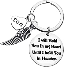 Memorial Jewelry I Will Hold You in My Heart Until I Hold You in Heaven Keychain Memorial Gift Miscarriage Remembrance Gift Son Memorial Keychain Sympathy Jewelry