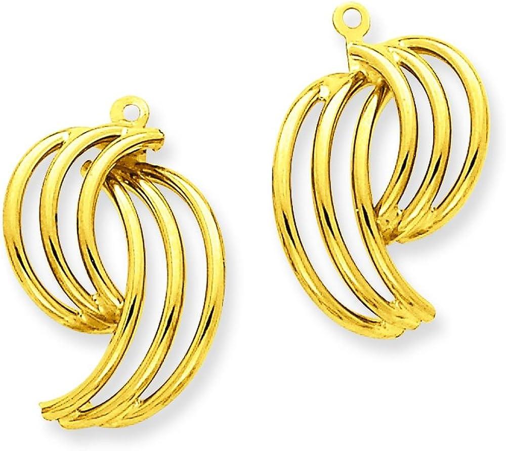 14K Gold Fancy Earring Jackets Polished Jewelry