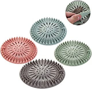 Tappo di scarico in silicone per la cucina flessibile colore: beige per il bagno anti-intasamento filtro per doccia e scarico in silicone per la raccolta dei capelli