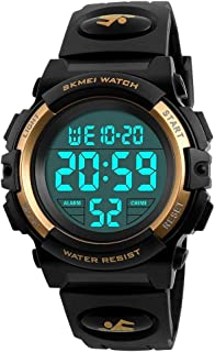 LED 50M Waterproof Digital Sport Watches for Kids