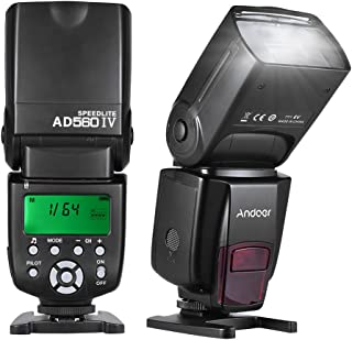 Andoer AD560 IV Pro 2.4G Wireless Universal On-camera Slave Speedlite Flash Light GN50 with Flash Trigger Color Filters Di...