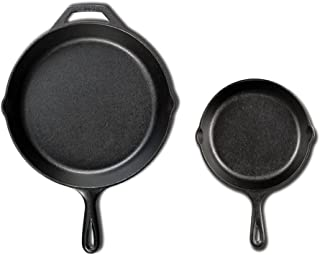 Lodge Seasoned Cast Iron Cookware Set (2 Piece Skillet Set (10.25 inches and 6.5 inches)
