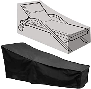 Kaxich Sun Lounger Cover Waterproof Patio Chaise Lounge Chairs Cover Sunbed Recliner Protective Cover Outdoor Garden Furniture Cover 208 x 76 x 41/79cm