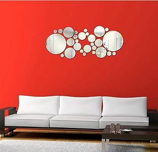 Stonges Round Circle Mirror Wall Sticker Extraíble Acrílico 3D Espejo de Vinilo Arte Calcomanía Decoración Del Hogar