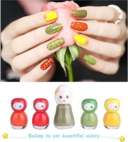 Neborn 5pcs / Lot Kids Nail Toy Set Esmalte de uñas para ...