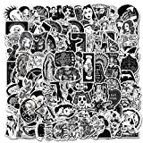 100 pcs Gothic Stickers, Cool, Horror, Black and White Stickers for Luggage Hydro Flask Laptop Phone Car Skateboard Guitar Bike Bicycle Sticker(Gothic Stickers(100pcs))