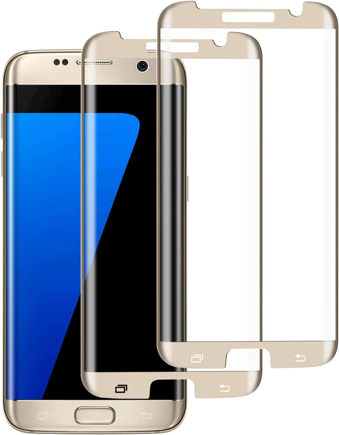 S7 Edge Screen Protector (2 Pack), Case-Friendly Tempered Glass,9H Hardness,HD Clear Tempered Glass for Samsung Galaxy S7 Edge
