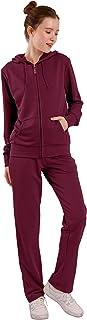 Velour Sweatsuits Set Women 2 Piece Tracksuit Sets Full Zip Hoodie Sweatshirt & Sweatpants Jogging Suits Outfits