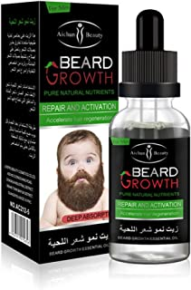 AICHUN BEAUTY Beard Grow Oil | Facial Hair Supplement |Thicker Beard Care|Mens Hair Growth Vitamins