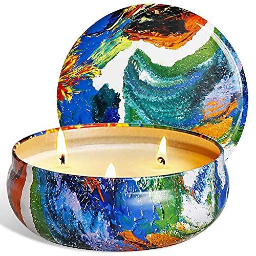 SaiXuan Citronella Kerze Duftkerzen in Dose,425g Kerze 100% Sojawachs Outdoor Indoor,Citronella Kerzen für Garten