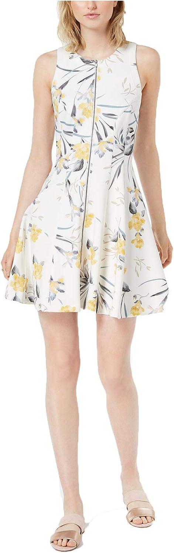 Bar III Women's Printed ZipFront Dress