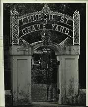 1975 Press Photo Entrance of Church Street Graveyard in Alabama - amra06044