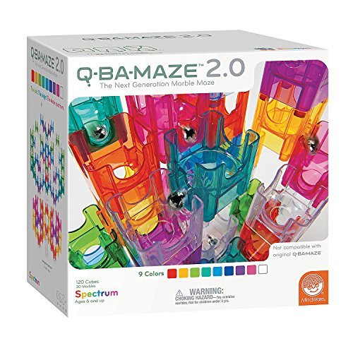Q-BA-MAZE 2.0 Spectrum Color Set - The Next Generation Marble Maze - 120 Cubes, 30 Marbles - Ages 6 and Up by MindWare