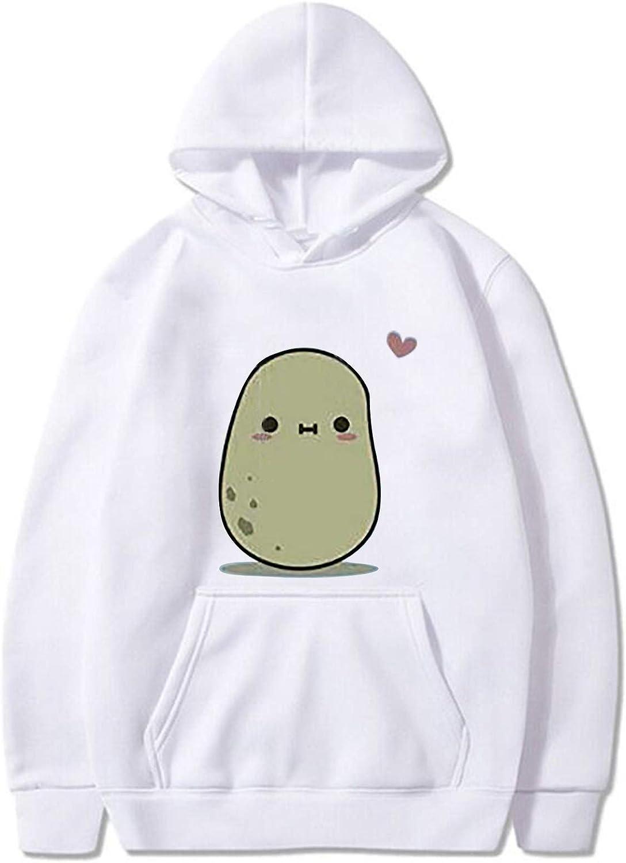 Eduavar Hoodies for Women Teen Girls Cute Graphic Printed Long Sleeve Striped Pullover Sweatshirt Casual Hoodie Tops