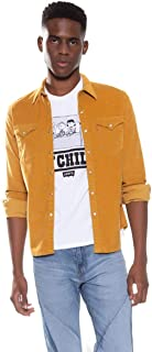 Camisa Jeans Levis Barstow Western Masculino Amarelo