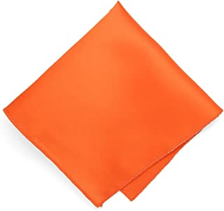TieMart Rust Tipped White Pocket Square