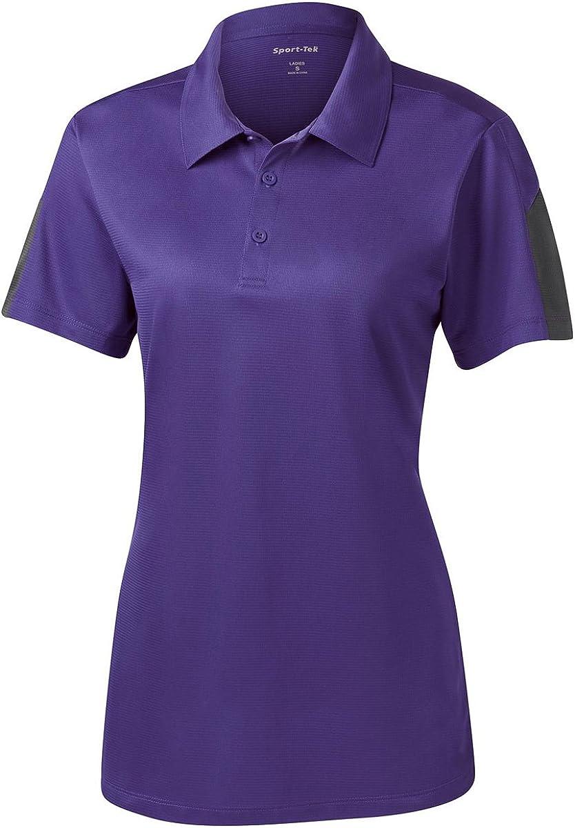 Sport Tek Women's Textured Colorblock Polo Shirt