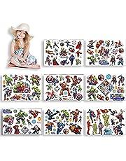 HONGECB Kinder tatoeages Stickers, Tijdelijke Tattoo Set Kinderen, Nep tatoeages Stickers, Waterdicht voor Kinderen Verjaardagsfeestje Decoraties Cadeau, Stickers voor Cadeauzakjes, 8 Vellen
