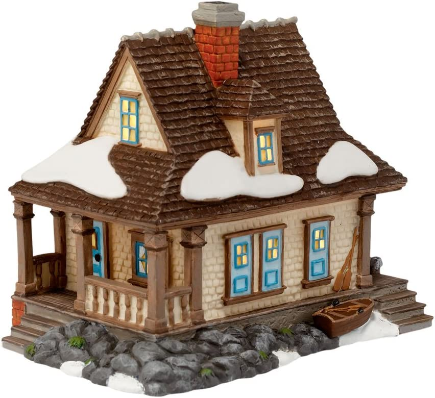 Department 56 New England Village Lit Bombing free shipping Building McLean NEW before selling Cottage
