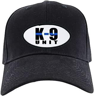 K-9 Unit Blue Line - Baseball Hat, Novelty Black Cap