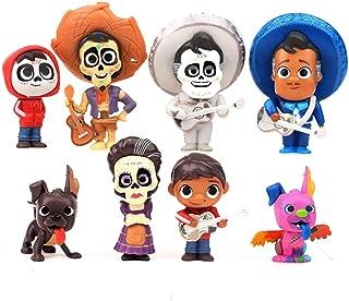 Coco Movie Figures 8pcs Cake Topper Toys, Pixar Miguel Riveras Characters Figure Toys Collectors Miguel Ernesto de la Cruz Hector Toy