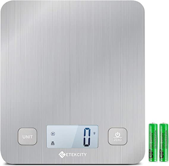Etekcity Food Kitchen Digital Weight Scale for Cooking and Baking