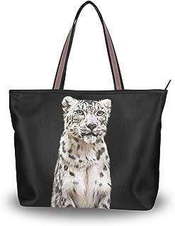 My Daily Women Tote Shoulder Bag Snow Leopard Handbag