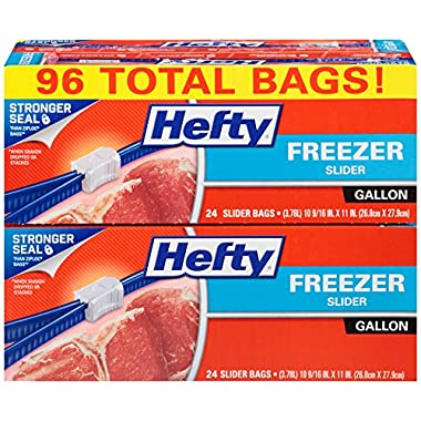 Hefty Slider Freezer Bags (Gallon, 96 Count)
