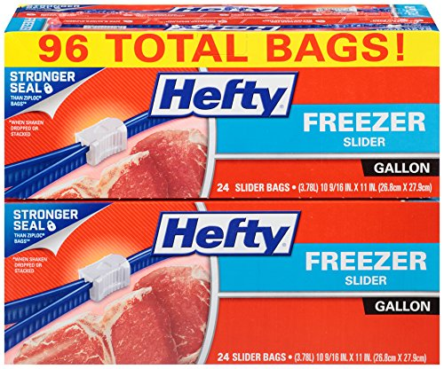 Hefty Slider Freezer Bags - Gallon Size, 96 Count