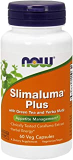 NOW Supplements, Slimaluma Plus with Green Tea and Yerba Mate, 60 Veg Capsules
