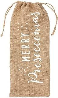 Something Different Merry Proseccomas Hessian Bottle Bag
