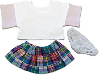 Stripe Teddy Bear Skirt and Top Teddy Bear Clothes Fits Most 14