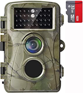 AlfaView Trail Camera 16MP 1080P HD Game & Hunting Camera with 120°Wide Angle Lens No Glow Night Vision Up to 75ft 0.2s Tr...
