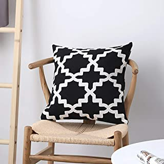 Yaosh Granatowa bawełna i len poszewka na poduszkę dekoracyjna kwadratowa poszewka na poduszkę poszewki na poduszki do sal...