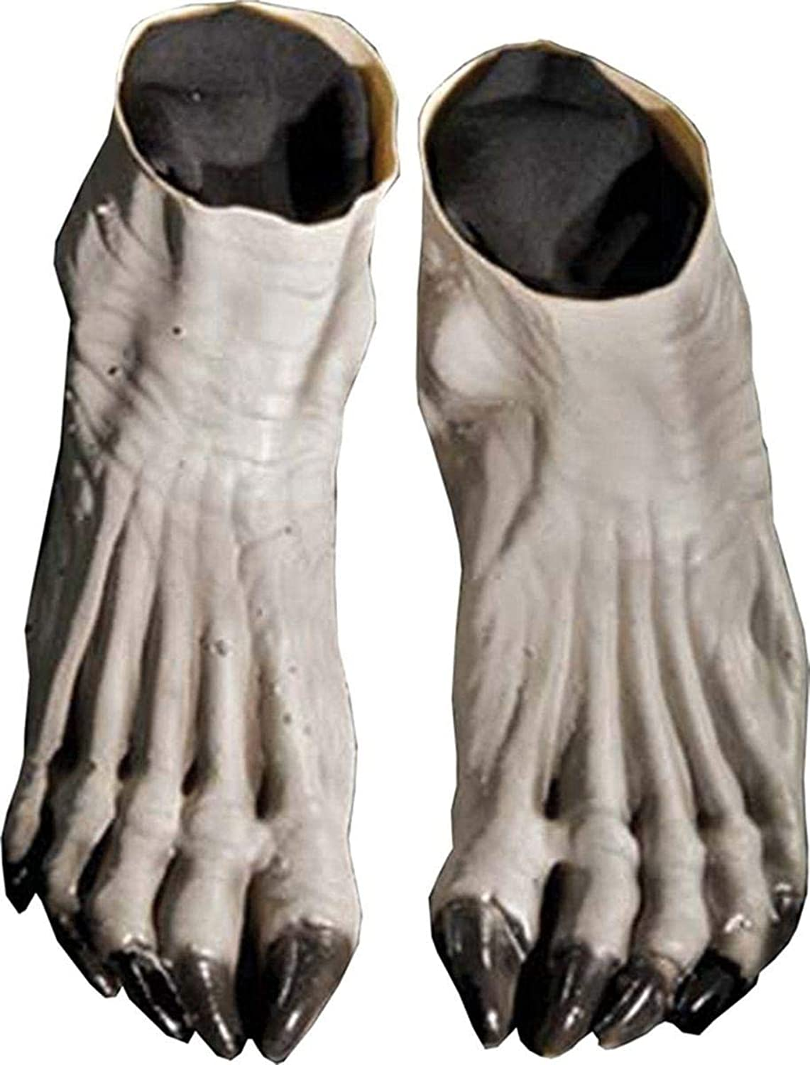 Distortions Unlimited Werewolf Feet Grey Costume Foot Covers