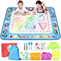 Gamenote Water Magic Doodle Mat - 40x30 Extra Large Water Drawing Mats No Mess Coloring Educational Painting Toys for Toddlers Boys Girls Age 3 4 5 6 7 8 Year Old