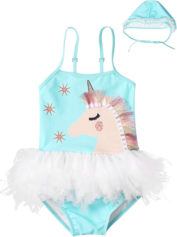Manufacturer OFFicial shop Yartina Toddler Chicago Mall Baby Girls Swimsuit Horse Halt Cartoon Piece One