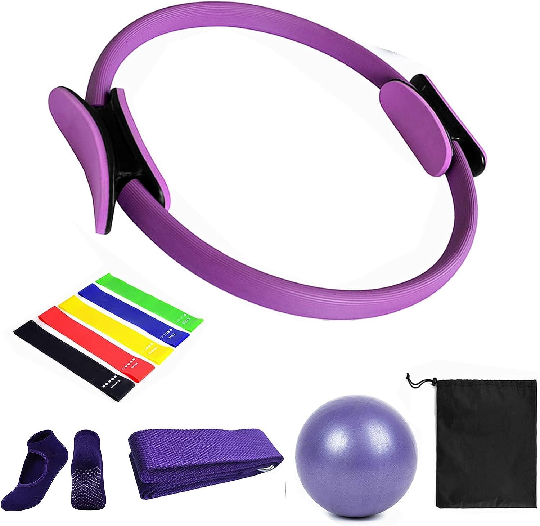 Sfeexun Pilates Sales for sale Ring Oakland Mall Set Yoga Fitness Magic Circle Equip