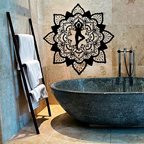Geiqianjiumai Hot Yoga Mandala Blume wandaufkleber indische Buddha Statue Dekoration Dekoration wandbild Kunst Schlafzimmer Vinyl Aufkleber...