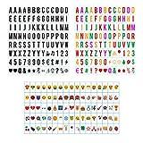 Sanyan Caja de luz con letras minúsculas A4 – 293 placas negras, letras y números, símbolos, juego complementario, caja de luz LED, ampliación