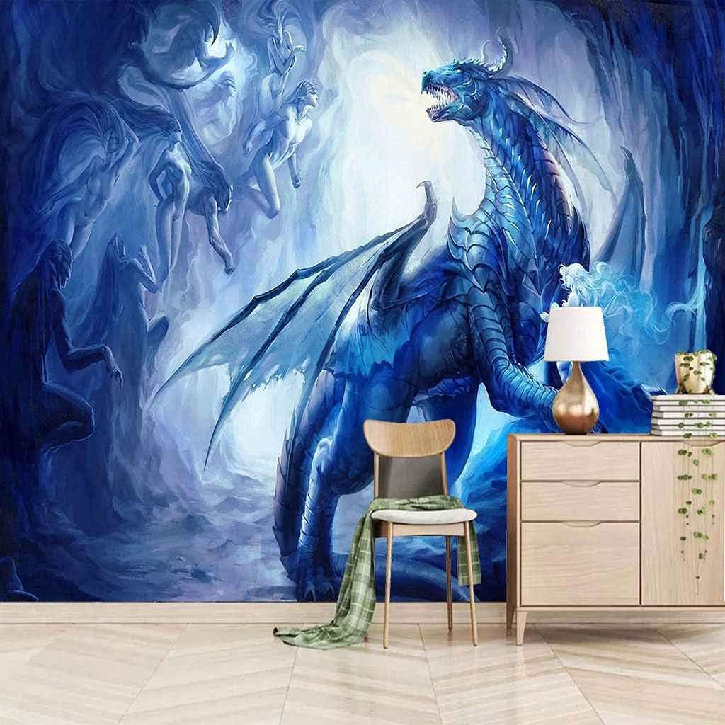 FVGKYS Wall Decals Art 3D Custom Popular product Blue Mural Cartoon Dinos Jacksonville Mall Poster