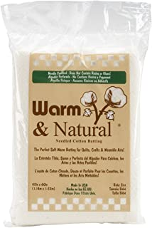 "Warm Company Batting 2322 Warm & Natural Cotton Batting-Crib Size 45""X60"""