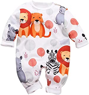 Newborn Infant Romper Long Sleeve Cartoon Fox Hooded Jumpsuit,0-18 Months,SIN vimklo