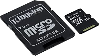 Kingston SDCS/64GB Canvas Select MicroSD, Velocità UHS-I di Classe 10, fino a 80 MB/s in Lettura, con Adattatore SD