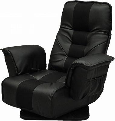 エイ・アイ・エス (AIS) 座椅子 ブラック 80x65-121x80cm YZIS-100 BK