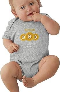 I Accept Bitcoins Baby Bodysuit Infant Romper Outfit Cotton Jumpsuit Clothes