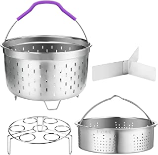 Haswe Steamer Basket for instant Pot Pressure Cooker, Accessories Set Compatible with 5/6/8 Qt InstaPot -18/8 Stainless St...