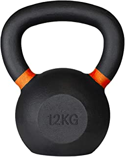 Meteor Essential Solid Cast Iron Kettlebell - Great for Full Body Workout and Strength Training Weightlifting