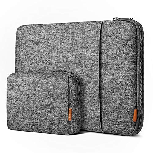 Inateck 360° Rundumschutz 13 Zoll Hülle Laptoptasche Kompatibel mit 13 MacBook Air 2020M1-2018, 13 MacBook Pro 2020M1-2016, Surface Pro X/7/6/5/4, XPS13, 12.9 iPad Pro, Laptop Sleeve Case Laptophülle