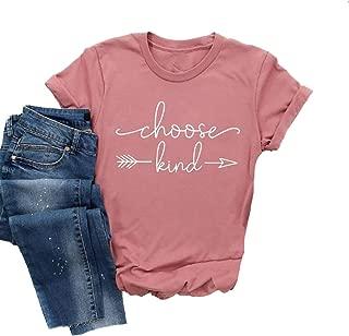 MAOGUYUN Choose Kind Shirt Women Tshirt Casual Short Sleeve Summer Tops Christian T-Shirt Blouse Tee Tops